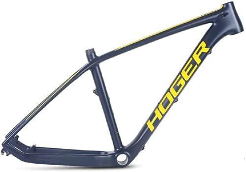 Cuadro de bicicleta de montaña de 27,5 pulgadas de carbono completo, superligero, marco de carbono MTB (amarillo)
