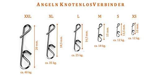 APAPA 10 Stück Knotenlosverbinder Gr. XXL in Schwarz