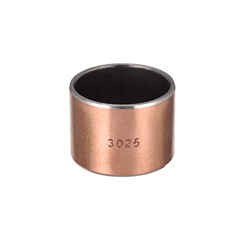 uxcell Sleeve Bearing 30mm Bore x 34mm OD x 25mm Length Plain Bearings Wrapped Oilless Bushings Pack of 1