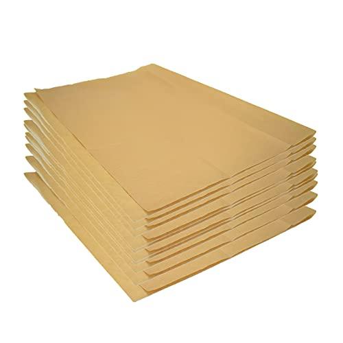 BTOPER 100 Pergamino Hojas, Antiadherente de Papel para Hornear 30 x 25 cm pergamino para hornear papel a prueba de grasa sin blanquear precortado papel pergamino marrón para hornear cocinar