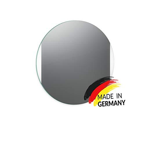 Spiegel ID Noemi Dia Links rechts Design: Spiegel Rund mit Beleuchtung - runder Spiegel nach Wunschmaß - Spiegel mit LED Beleuchtung - Made in Germany - Auswahl: (Durchmesser) 40cm