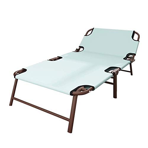 UCYG Cama Canapé Abatible Plegable para Invitados,Armadura De Metal Butaca Sofa con Colchón 1 Plazas para Camping Piscina Jardín, 180 Kg De Carga, 196x64x32cm