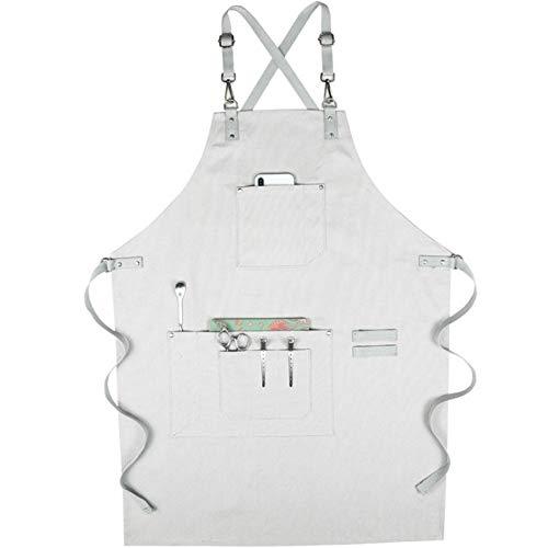 SEGIBUY Unisex canvas schort, professionele tondeuse kapper kapper schort cape voor salon kapper Chef BBQ Grill Work Shop - Multi-use instelbaar