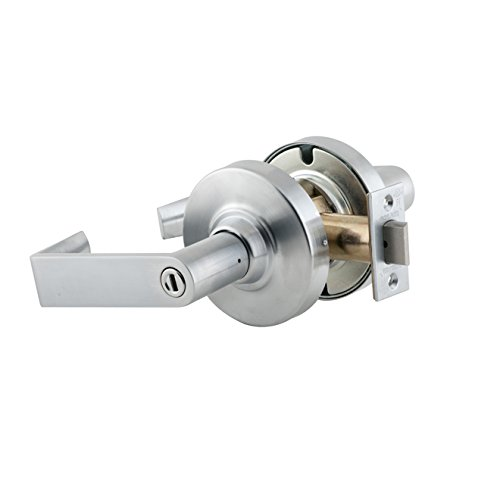 Schlage Commercial ND40RHO626 ND Series Grade 1 Cylindrical Lock, Privacy Function, Rhodes Lever Design, Satin Chrome Finish