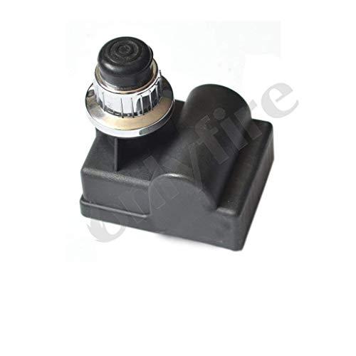 onlyfire 14461 BBQ Seis puertos batería eléctrica Impresión botón encendido piezoeléctrico, Repuesto para barbacoa parrilla de gas Cigarrillos 6 Grabadora,Plata