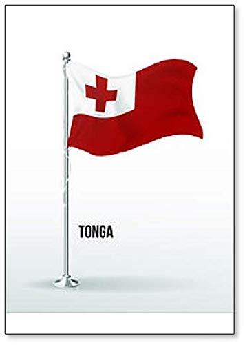 Kühlschrankmagnet, Motiv Flagge von Tonga