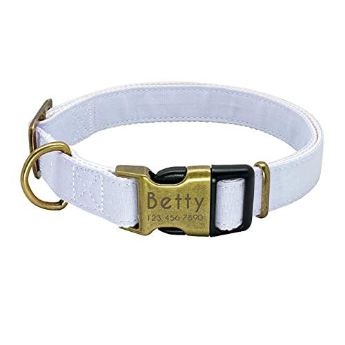 XINXIN Collar de Perro Personalizado Nylon Pequeños Perros Grandes Perrito Collares para Pequeño Medio Medio Mascota Pitbull Chihuahua Pink JX (Color : Blue, Size : S)