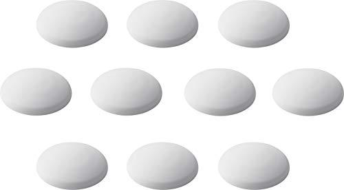 Metafranc Türpuffer Ø 40 mm - selbstklebend - weiß - 10 Stück im praktischen Set - Zuverlässiger Wandschutz - Zum schonenden Öffnen von Türen & Fenstern / Wandpuffer / Anschlagdämpfer / 431816
