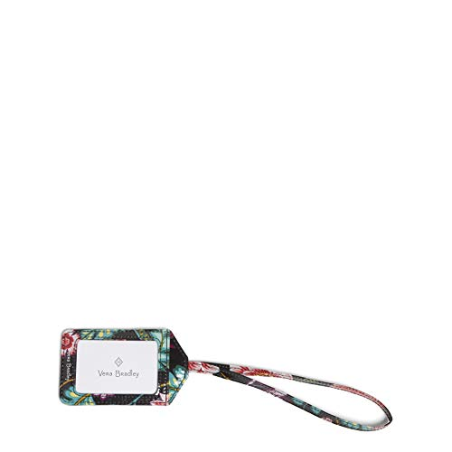 Vera Bradley Women's Signature Cotton Luggage ID Tag, Vines Floral, One Size