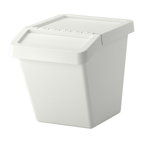 2 XIKEA SORTERA -Abfallsortierbehältermit Deckel weiß - 60 l