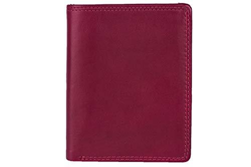 LEAS Portadocumenti, Vera Pelle, rosso Card-Collection'
