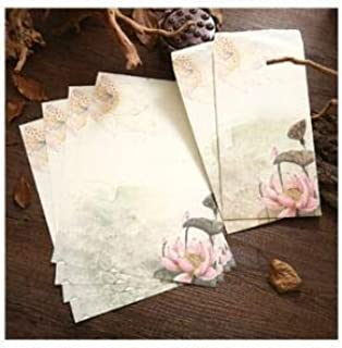 4 letter paper+2 envelopes Set Chinese Style Letter Paper Vintage Envelope For Greeting Card,Postcard Stationery Travel Gi...
