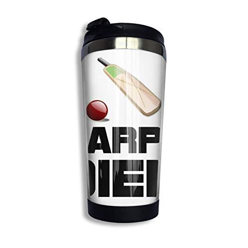 Hdadwy Carpe Diem Cricket Taza de viaje Taza de café Vaso aislado al vacío de acero inoxidable 13.5 oz