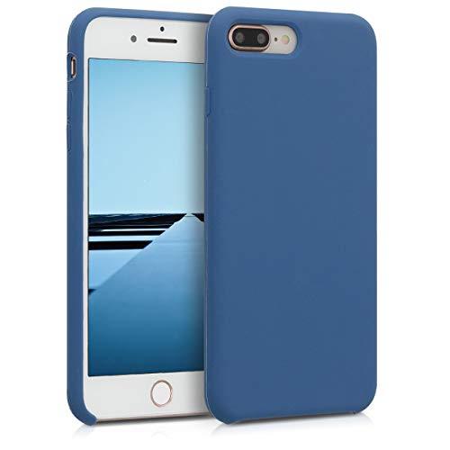 kwmobile Custodia Compatibile con Apple iPhone 7 Plus / 8 Plus - Cover in Silicone TPU - Back Case per Smartphone - Protezione Gommata Blu Scuro