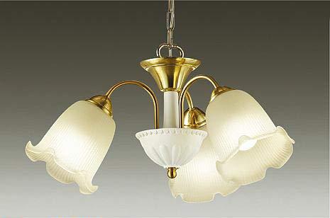 大光電機 シャンデリア(ランプ付) LED電球 4.9W(E26)×3灯 電球色 2700K DCH-39453YE