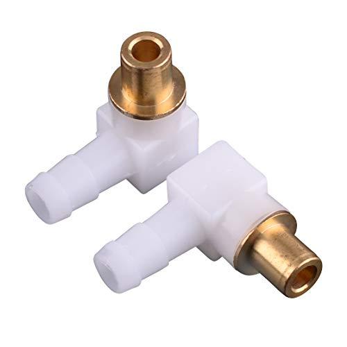 2 Stück Kraftstoffschlauchanschluss passend für Briggs & Stratton 493496 494451 692317 Größe: Ca. 2,6x2,4x1cm(1,02x0,94x0,39inch)(LxBxT)