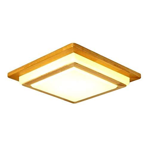 LED massief hout plafond lamp Scandinavische stijl moderne acryl lampenkap japanse stijl log slaapkamer woonkamer lamp creatieve outdoor gang tuin balkon verlichting armatuur