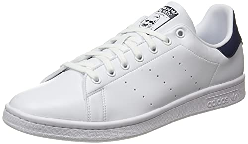 adidas Stan Smith, Sneaker Hombre, Footwear White/Footwear White/Collegiate Navy, 42 EU ⭐