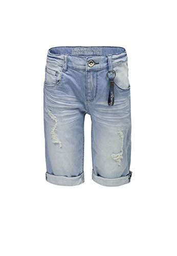 Lemmi Jungen Shorts Bermudas Jeans Boys Slim 1880338032 Blau (Blue/Light denim0015), 122, Farbe:Blau (Blue/Light denim0015), Größe:92