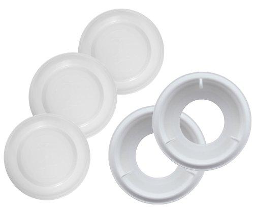 MAM Anti-Colic Zubehör-Set, enthält 2 Anti-Colic Bodenventile für MAM Anti-Kolik Babyflaschen und 3 Verschlussplättchen zum sicheren Verschließen, 0+ Monate, weiß