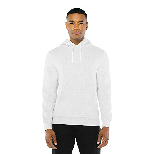 American Apparel Unisex-Erwachsene Peppered Fleece Long Sleeve Pullover Hoodie Kapuzenpulli, Dunkle Esche, X-Small