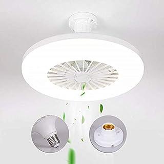 Ventilador de techo LED moderno de 36W lámpara de techo con ventilador simple creativo dormitorio invisible y silencioso ventilador E27 lámpara cabeza ventilador lámpara ventilador para salón comedor