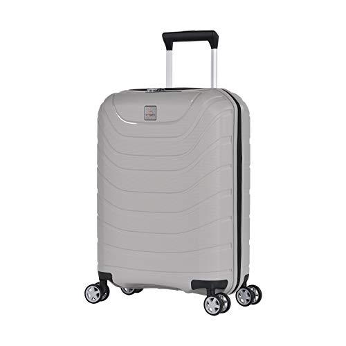 Eminent Koffer Voyager XXI 55 cm 38 L Handgepäck super leicht & robust 4 leise Doppelrollen Hartgepäckkoffer Grau
