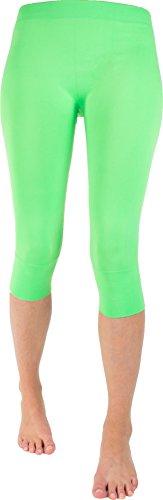 Wowerat Seamless-Capri-Leggings ohne auftragende Nähte in Top Farben Farbe Mint Größe XXL