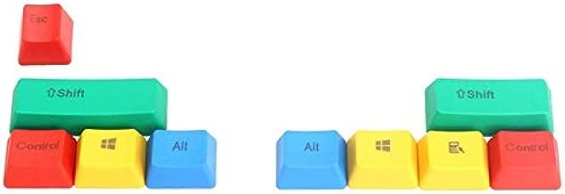 DELAMZ - New 10Pcs RGBY Keycap Modifiers Keypress ANSI Cherry MX Mechanical Keyboard US Layout Keycaps Translucent Clear Key Caps