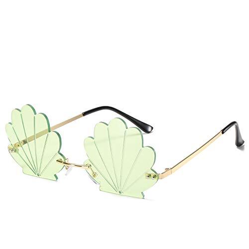 Gafas de Sol Sunglasses Gafas De Sol con Escudo Sin Montura A La Moda para Mujer, Gafas De Sol Divertidas De Metal para Fiestas, Gafas De Sol para Mujer, Tonalidades Colo