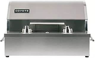 Coyote 18 Inch Built-in Electric Grill Single Burner Manual Control, Ceramic Flavorizer, Teflon Coated Cooking Surface- C1EL120SM