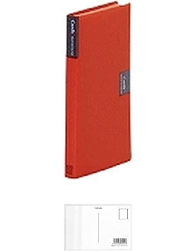 キングジム カードホルダー「カーズ」(溶着式)赤 42アカ + 画材屋ドットコム ポストカードA