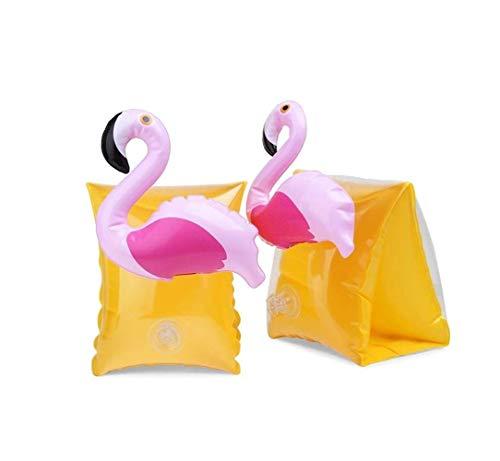 MLIAN Schwimmflügel Kinder Aufblasbare Armbinden Einhorn Flamingo Schwimmhilfe für Kinder 3-7 Jahre Jungen und Mädchen (Flamingo)