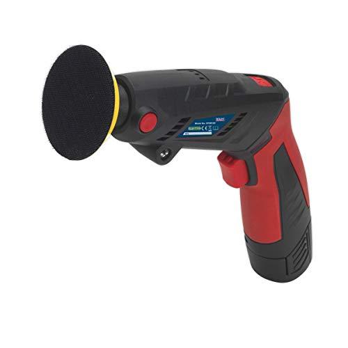 Sealey CP2812V - Mini lijadora inalámbrica/kit de pulidor, color rojo