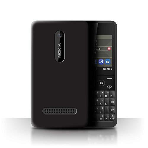 Stuff4® Personalisiert Individuell Farbe Palette Hülle für Nokia Asha 210 / Lakritze Schwarz Design/Initiale/Name/Text Schutzhülle/Case/Etui