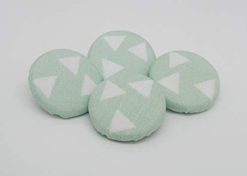 4 Stoffknöpfe 23mm Triangle Dreiecke mint