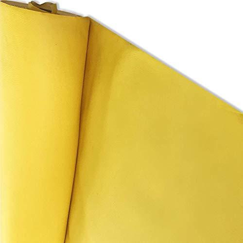 Ecopelle Morbida Finta Pelle per arredo Divani Sedie Tessuto e Tecniche di Imbottitura e Rivestimento (43 x 121, Giallo)