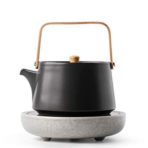 Tea Sets Kettle Electric Pottery Tea Maker Household Ceramic Teapot Silent Tea Maker Five-speed Intelligent Operation (Color : Black, Size : 1818cm)