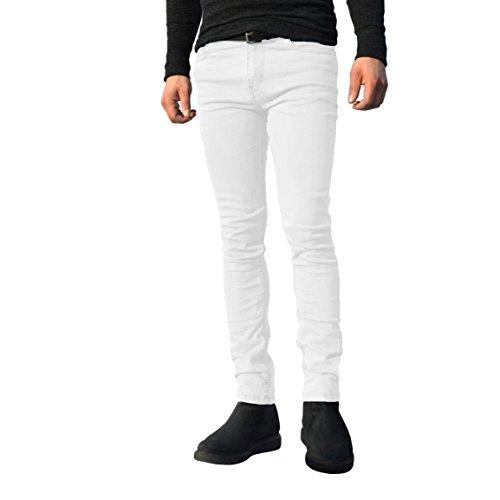Pantalones vaqueros para hombre, ajustados, elásticos, pernera recta, de algodón, todos los tamaños de cintura disponibles negro negro 38W x 32L