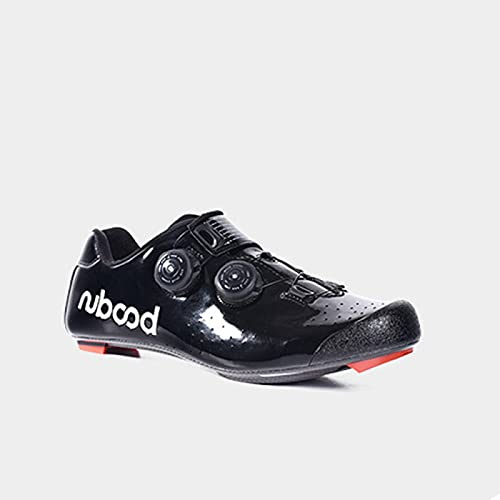 Cycling Shoes Men Road Cycling Riding Mtb Shoe Anti-slip Professional Road Competitive Bike Shoes Breathable Cycle Lock Shoes,Black-41