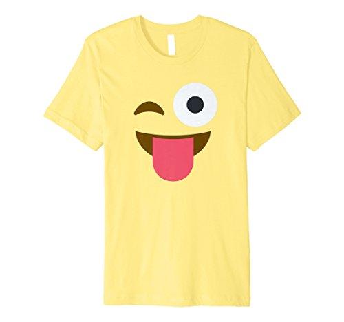 Halloween Wink Zunge heraus lustige Emoji Kostüm T-Shirt