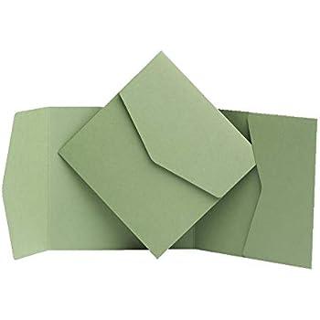 Salvia opaco biglietti d invito 130/MMX130/MM da Pocketfold invita Ltd Sage Green