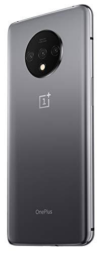 "OnePlus 7T Smartphone, 8 GB RAM 128 GB, 6.55"" / 16,6 cm, Display AMOLED 90Hz, Grigio (Frosted Silver)"