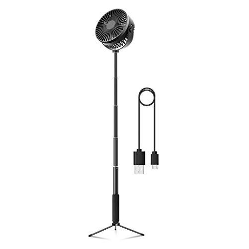 N/A. Ventilador telescópico de escritorio de piso 2000 mAh batería recargable 3 velocidades Camping USB Fan
