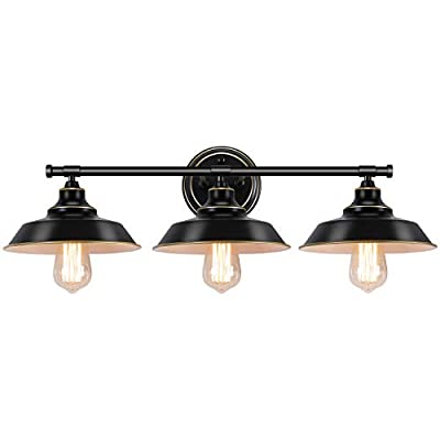 ZOOSSI Bathroom Vanity Wall Sconce 2 Lights, Gold Industrial Metal Wall Mount Lamp, Mirror Front Wall Decor Light Fixture, Modern Minimalist Style for Kitchen, Bedroom, Mirror Cabinet, Dressing Table