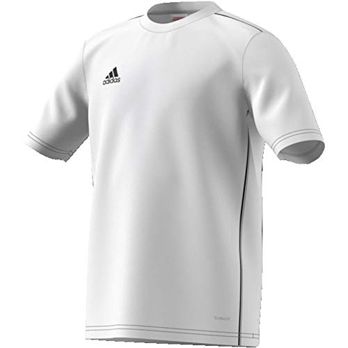 adidas Kinder CORE18 Y Jersey, Weiß (white/schwarz), 128