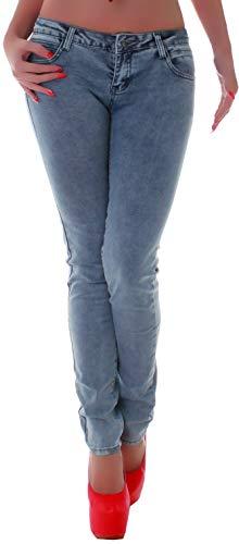 Damen Röhrenjeans Hosen Hüftjeans Jeans blau Damenjeans Damen-Hose-n Jeans-Hose-n Röhre-n Hüft-Hose-n Niedrige-r Leib-Höhe Bund Stretchjeans Stretch-Hose-n Skinny Denim blau-e Gr Größe XS 34