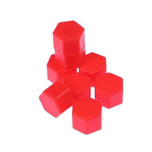 VOSAREA Radmuttern Abdeckungen Silikon Schrauben Schützen Kappen 21mm 20 Stück (Rot)