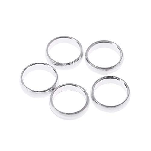 Gwxevce 5 STK. Aluminiumlegierung Mini Darts Flights Protectors Rings Savers 0,01 g Ultraleichtes Dartzubehör Silber