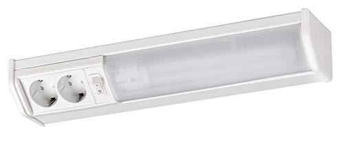 Unterbauleuchte Küche warmweiß mit Steckdose Bath 11W, leuchtenladen, Schrankleuchte Küchenlampe Lichtleiste